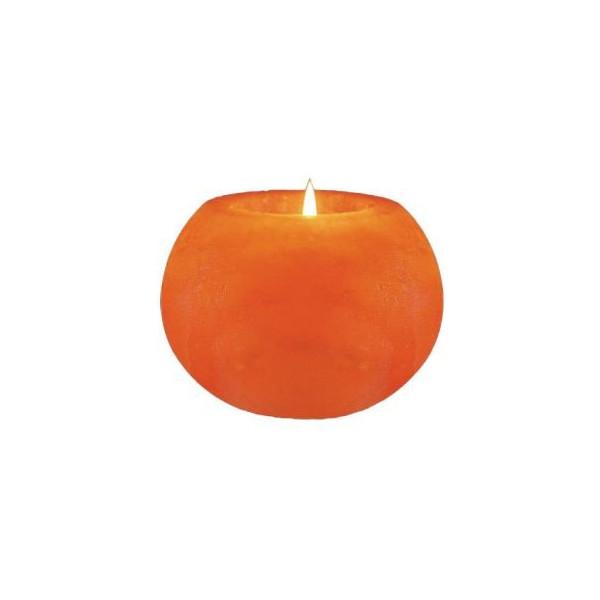 WBM Himalayan Light # 3027 Natural Air Purifying   Hand Carved Himalayan Crystal Salt 1 Hole Tealight Candle Holder  Ball