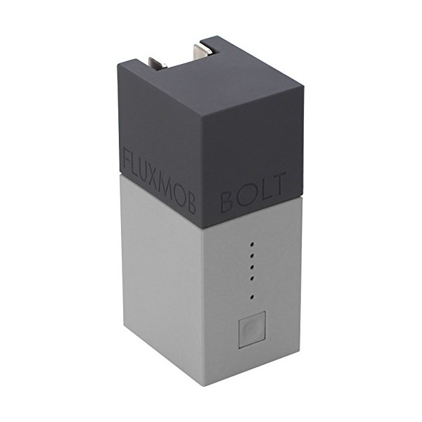 FLUXMOB BOLT Portable Power Adapter: USB Wall Charger and Universal Battery Backup, Graphite