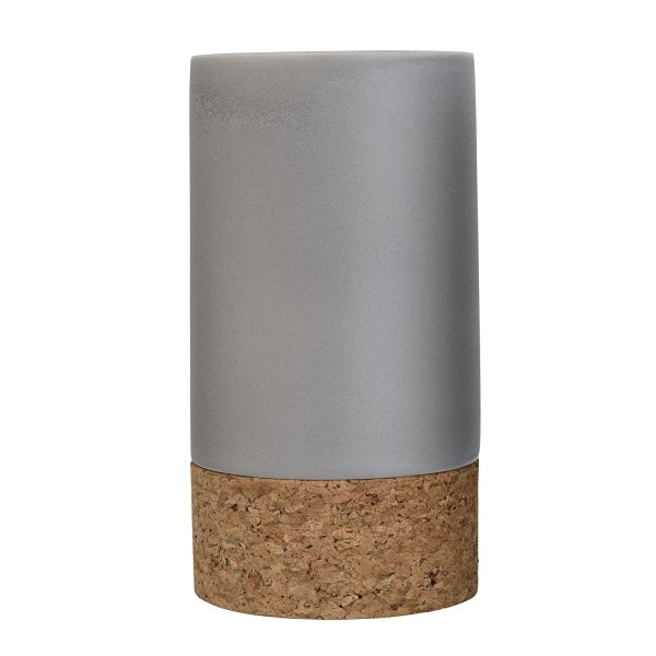Bloomingville A32602172 Grey Ceramic Vase with Cork Bottom