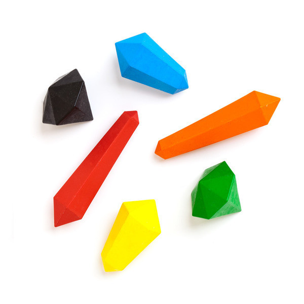 Kikkerland Crystal Crayons, Set of 6