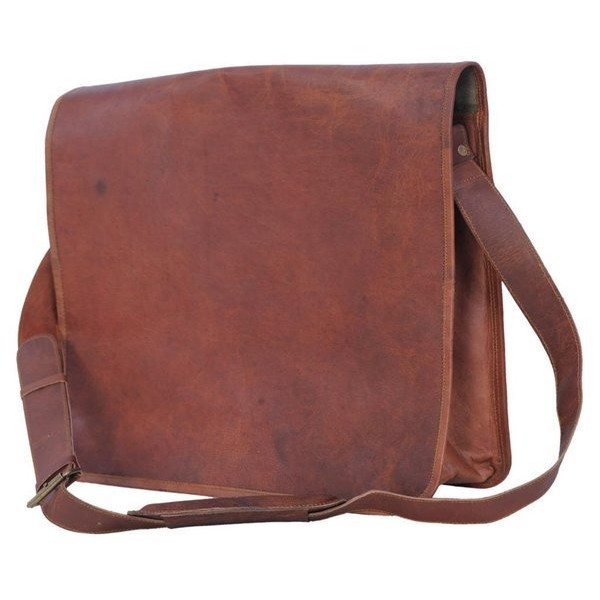 Leather Messenger Bag Handmade 16 inch Full Flap Cross Body/ Laptop Bag/ Macbook Bag/ Retro Leather Satchel/ Shoulder Bag