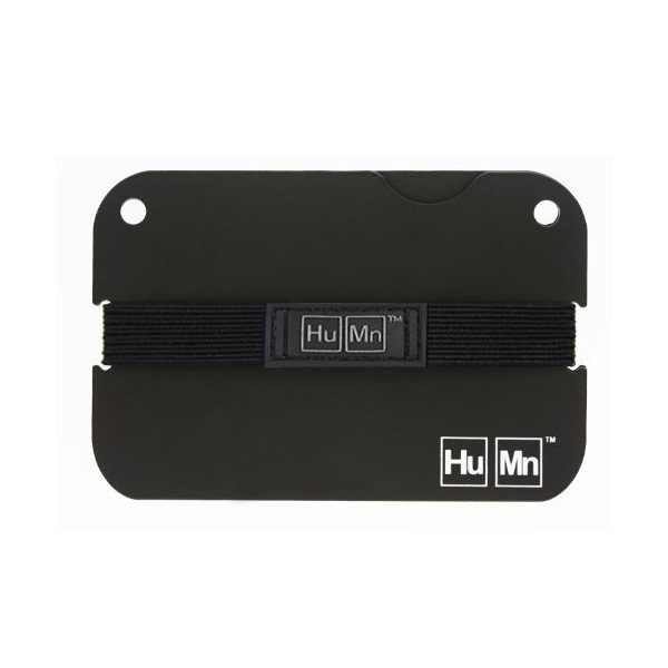 HuMn Mens Wallet Mini Matte Black-One Size