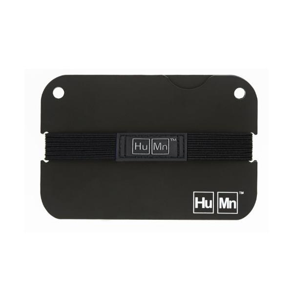 HuMn Mens Wallet Mini Matte Black-One Size