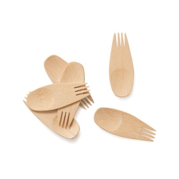 Bambu 3-1/2-Inch All Occasion Veneerware Sporks, 24