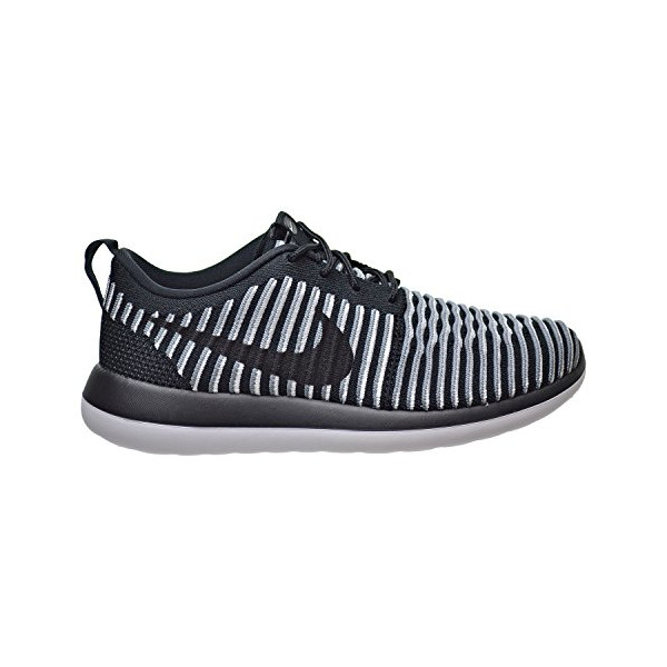 Nike WMNS Roshe Two Flyknit 2 Women Lifestyle Casual Sneakers New Black White - 8