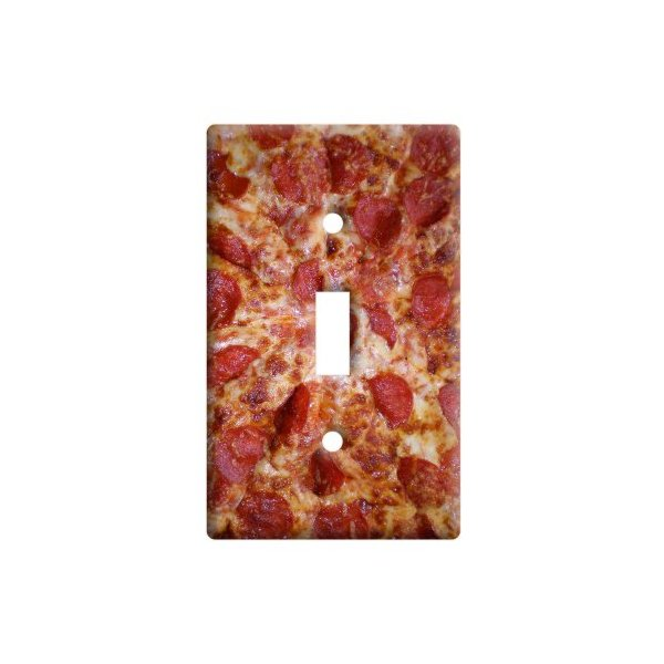 Cheese and Pepperoni Pizza Pie - Plastic Wall Decor Toggle Light Switch Plate Cover