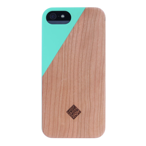 Click Wooden iPhone 5 Case, Neon Green / Wood