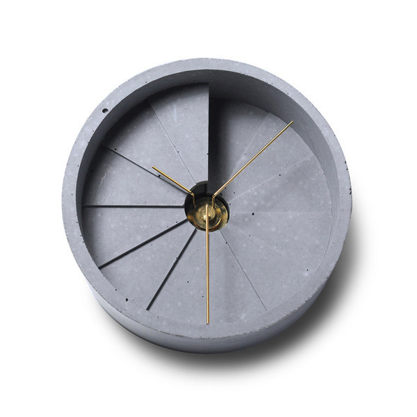 Concrete 4th Dimension Desk Clock