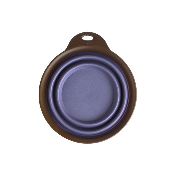 Dexas Popware for Pets Collapsible Travel Cup/Bowl, Small, Purple