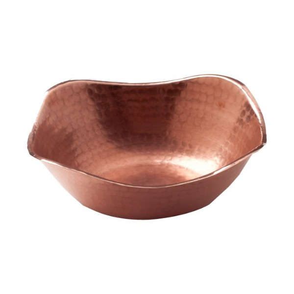Sertodo Flat Earth Bowl, Hammered Copper