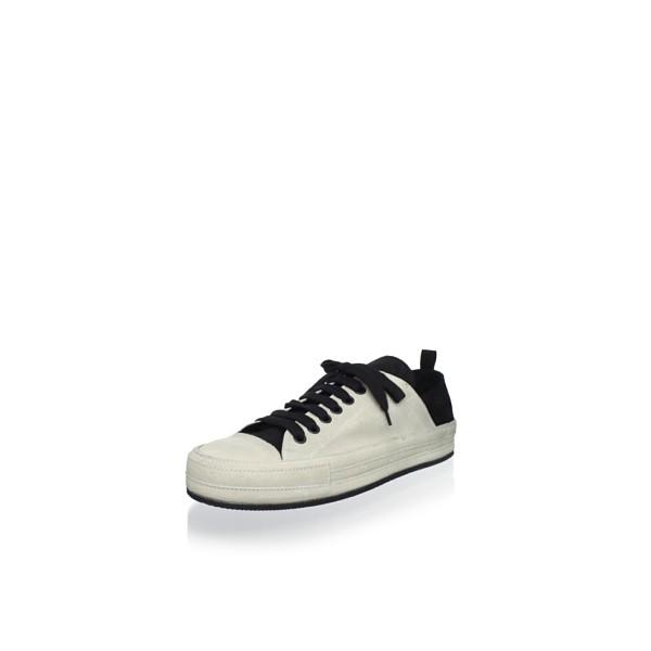 Ann Demeulemeester Men's 2-Tone Sneaker, Angora/Black, 42.5 EU