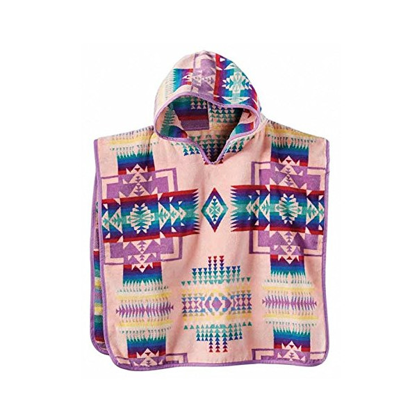 Pendleton Jacquard Hooded Towel Chief Joseph Pink