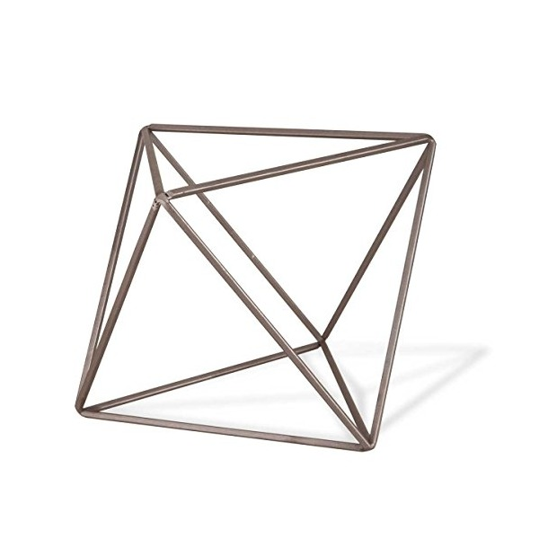 Foreside Crystalline Octahedron Sculpture, Small
