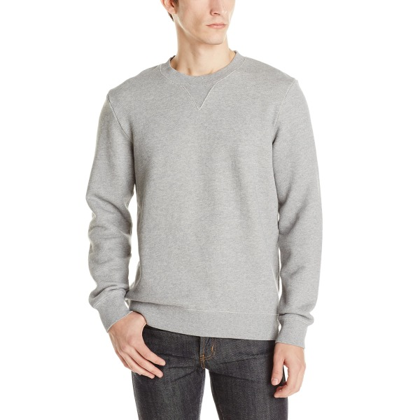 Alternative Men's Heavy French Terry Crew Neck, Heather Grey