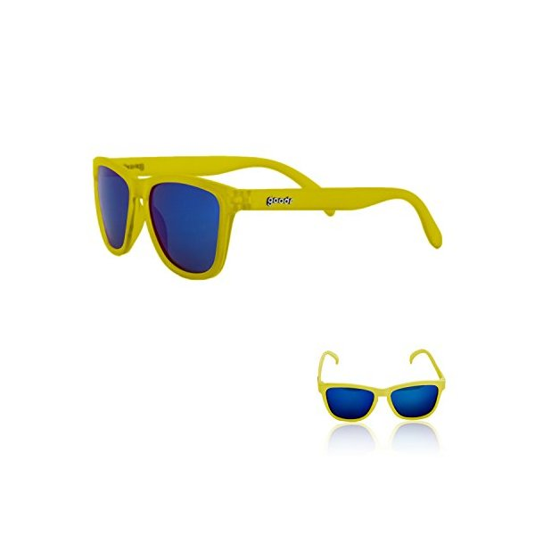 goodr RUNNING SUNGLASSES - No Slip, No Bounce, UV Polarized (Yellow)