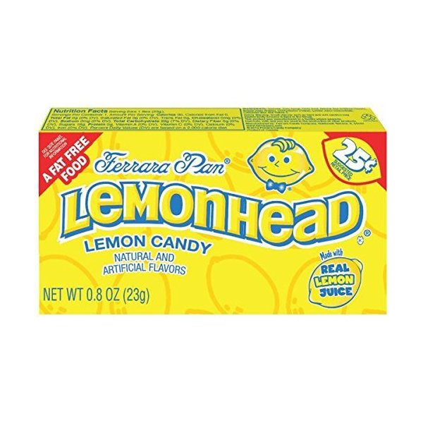 Ferrara Pan Lemonhead Candy 0.8 oz Box (24 Pack)
