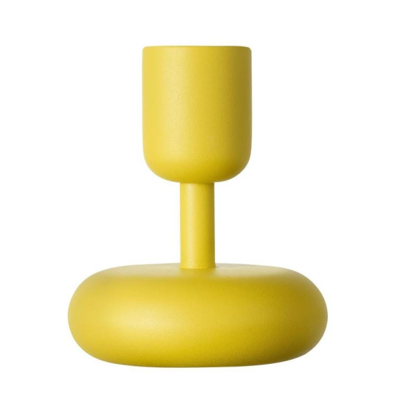 littala Nappula Candleholder, Yellow, Small (Set of 2)