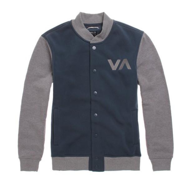 RVCA Mens Grabber Varsity Fleece Jacket