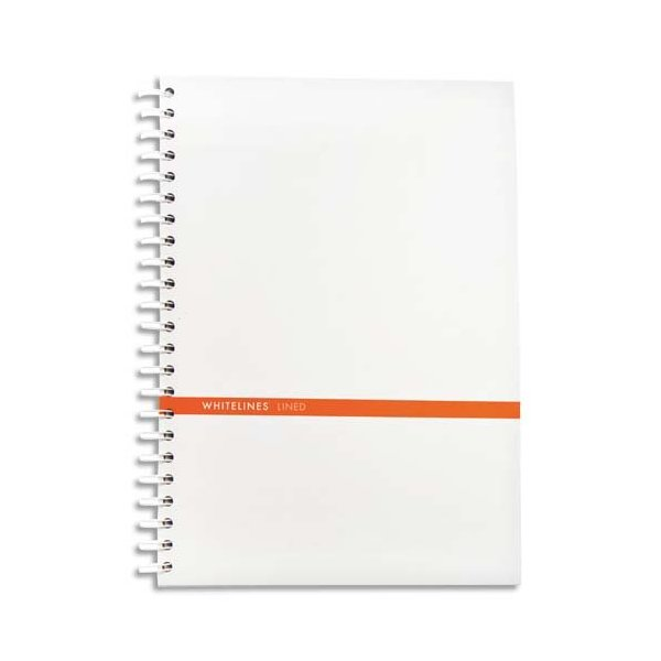 Whitelines Hard Wire A4 Squared Notebook: Supporting your ideas