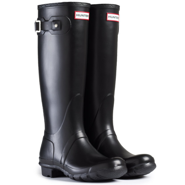 Women's Hunter Boots Original Tall Snow Rain Waterproof Boots - Black - 5
