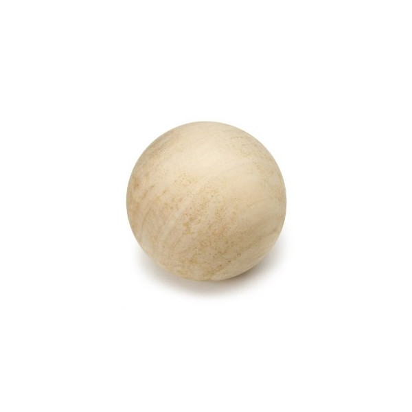 Darice 9112-60 Natural Unfinished Wood Round Ball, 3-Inch