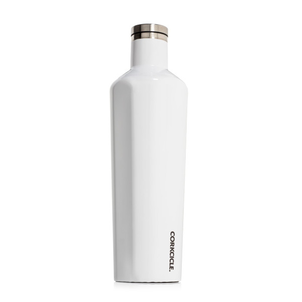 Corkcicle Triple Insulated Water Bottle and Thermos, 25 oz, Gloss White
