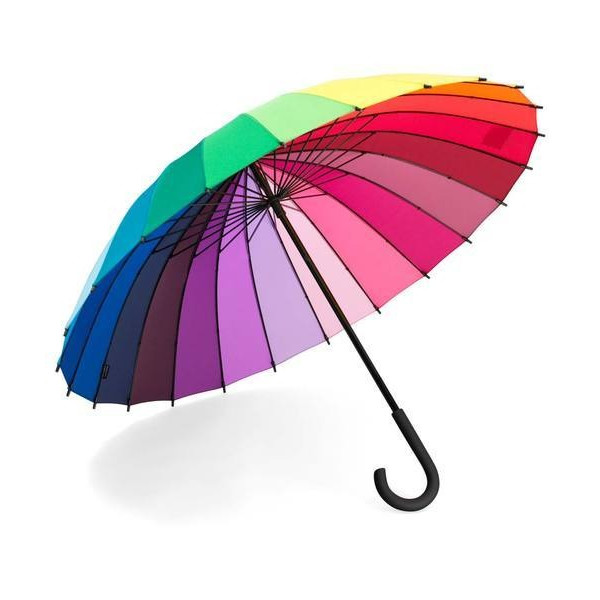 Rainbow Color Wheel Umbrella by Streamline
