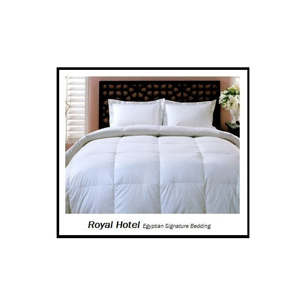 Royal Hotel's King / California-King Size Down-Alternative Comforter - Duvet Insert, 300-Thread-Count 100% Down Alternative Fill