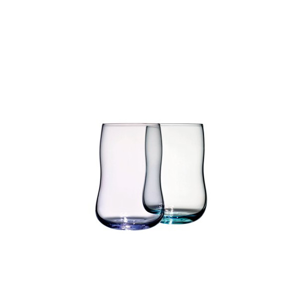 Holmegaard Future Glass Lavender/Aquamarine 2Pack (8.5 Oz.)