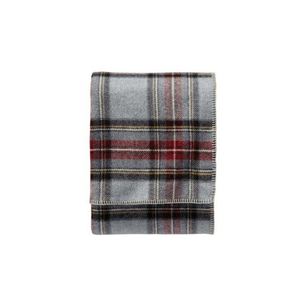 Pendleton Grey Stewart Plaid Eco-Wise Washable Wool Blanket (Queen)
