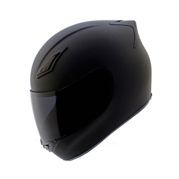 Duke Matte Black Full Face Motorcycle Helmet DK-120 +Free Tinted Visor