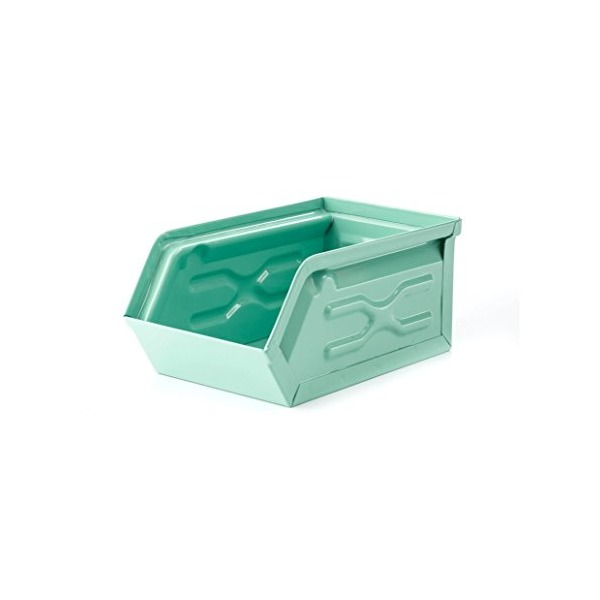 Kikkerland Metal Storage Container, Green (OR78-G)
