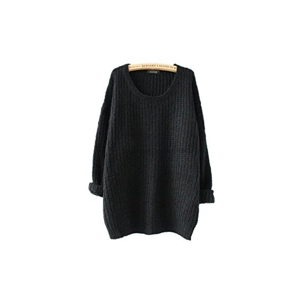 ARJOSA women pullovers sweater (#3 Black)