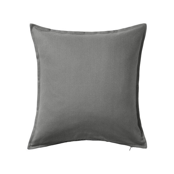 Ikea Gurli Solid Gray Throw Pillow Cover Cushion Sleeve NEW 20 X 20""