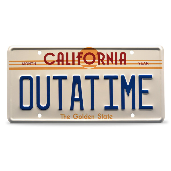 Back to the Future OUTATIME Replica License Plate