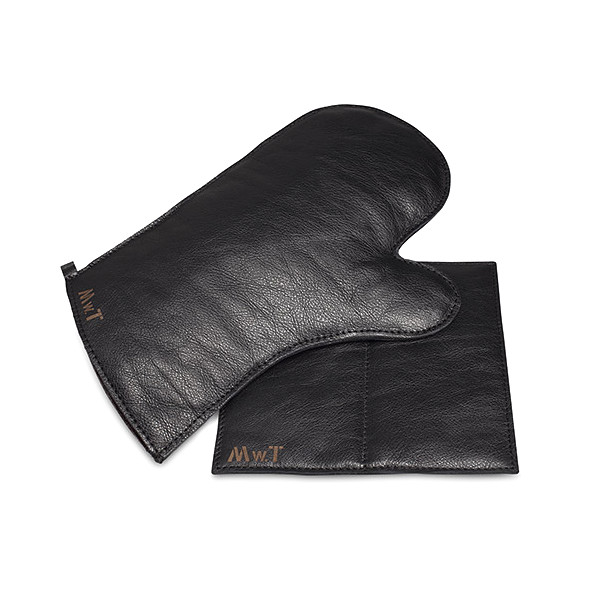 Leather Oven Mitt & Pot Holder Set