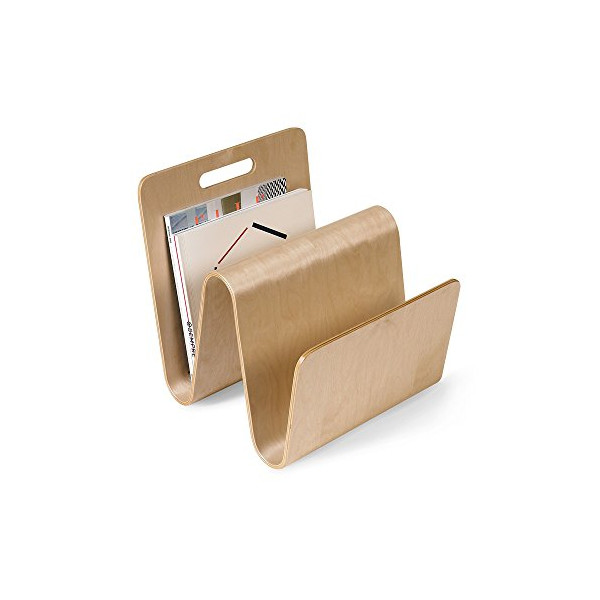 Offi Molded Ply W Magazine Stand in Birch