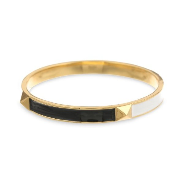 Kate Spade New York Locked In Mini Turnlock Black, White, Multi-Colored Bangle Bracelet
