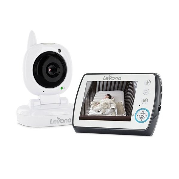 "Levana Ayden 3.5"" Digital Video Baby Monitor with Night Vision Camera, Temperature Monitoring, Talk to Baby Two-way Intercom and Zoom"