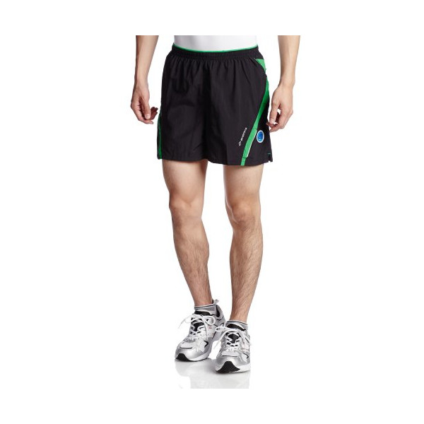 Brooks Men's Infiniti Notch Short II, Color: Black/Fern, Size: S