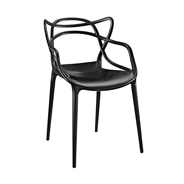 LexMod Entangled Dining Armchair, Black