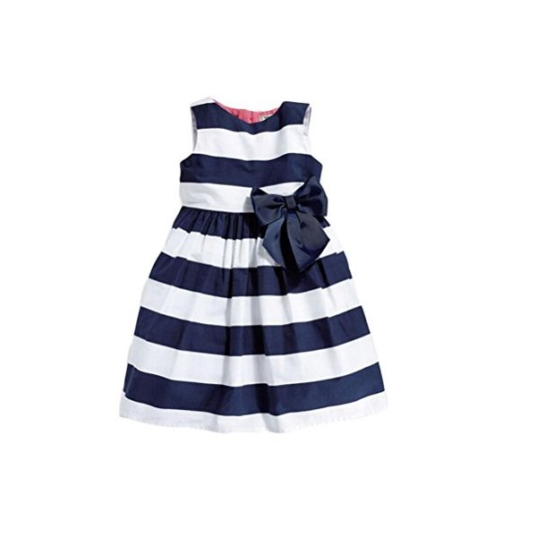 Buytra(TM) Baby Girls One Piece Striped Bow Sleeveless Sundress Summer Tutu D...