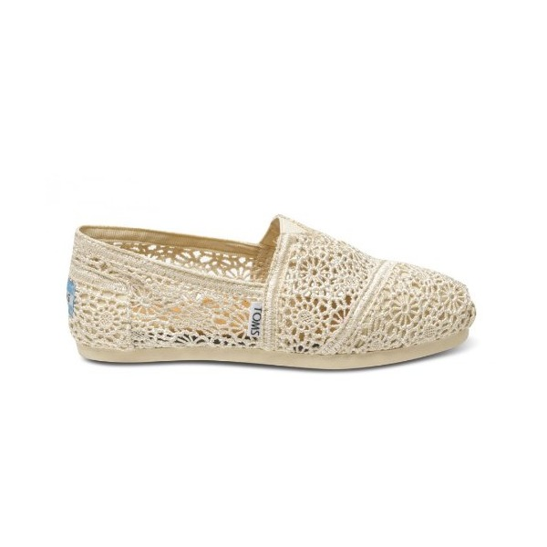TOMS Natural Crochet Women's Slip-On W6