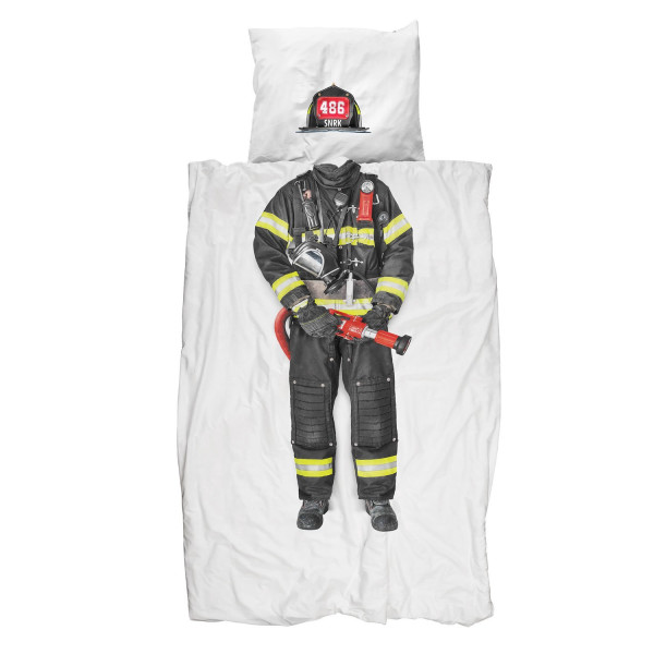 Snurk Firefighter Duvet Cover, Twin