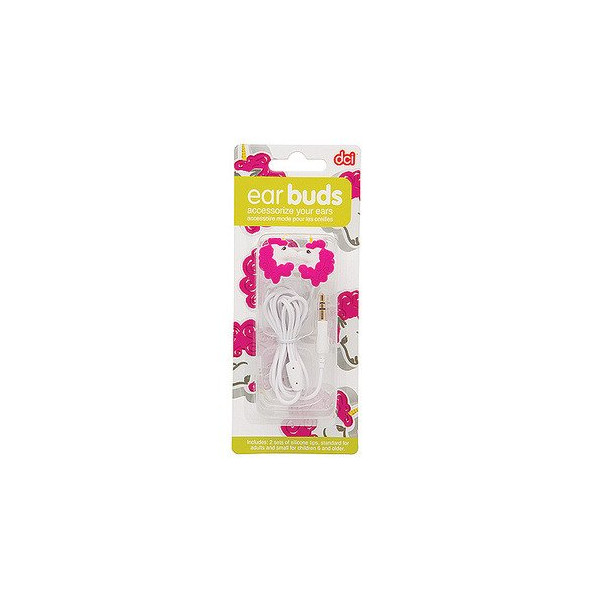 DCI Unicorn Earbuds for 3.5mm Socket - Retail Packaging - White/Pink