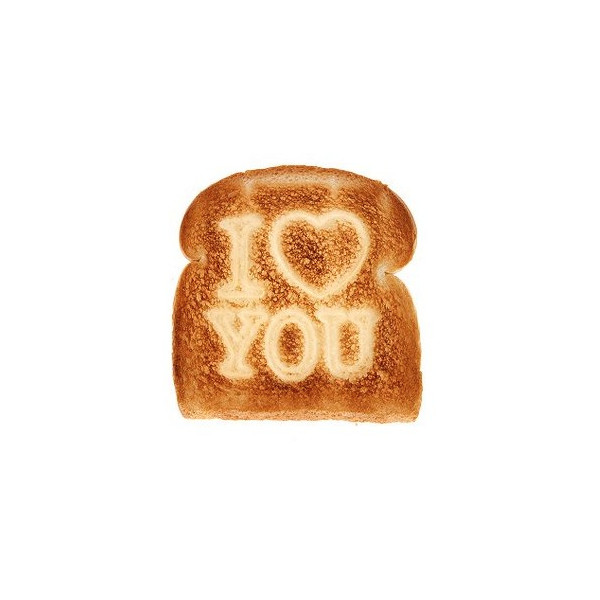 I Love You Breakfast Toast Stamper