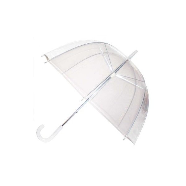 Bubble Umbrella Clear Dome Rain Umbrellas (Great Gift Idea for Women & Girls)