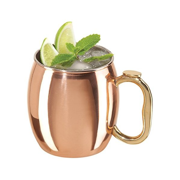 Oggi Moscow Mule Copper Mug, 20-Ounce ,Set of 2