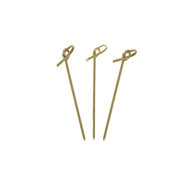 Royal Bamboo Knot Cocktail and Hors' D'oeuvre Pick, 4-Inch, Green - 100 ct