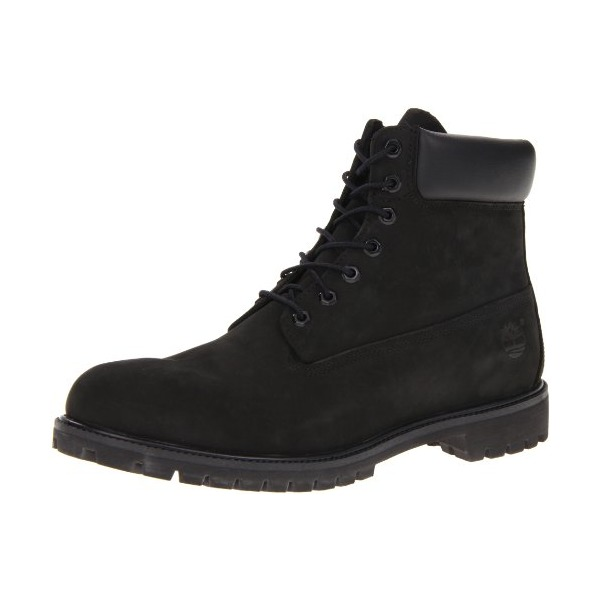 "Timberland Men's 10073 6"" Premium Boot,Black Nubuck,9 M"